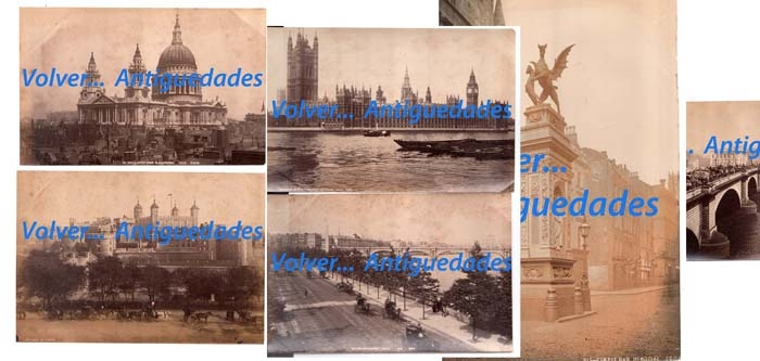 Fotos / Photos   London lot of 8 albumen 6 ' x 8 ' approx.
