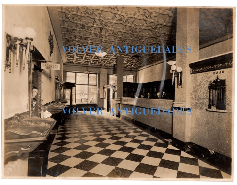 Fotos / Photos   All America Cables rare old interior office photo Buenos Aires Argentina