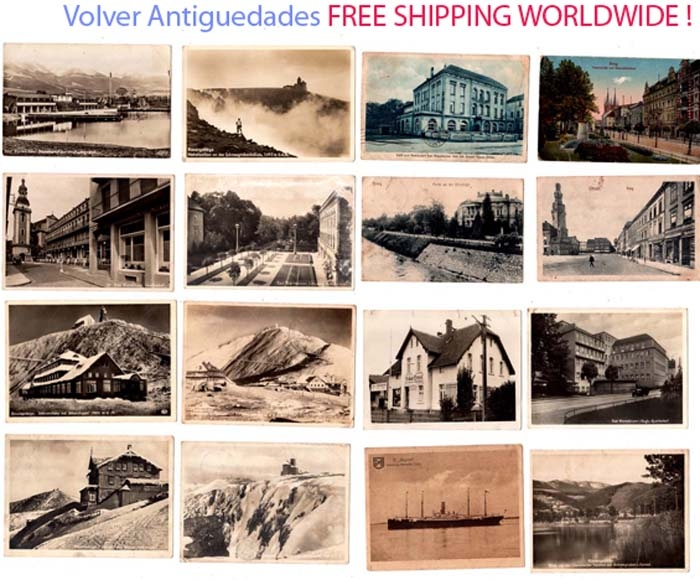 Documentos / Papeleria   Lot of 16 German postcards Bad Warmbrunn Riesengebirge Schlesierhaus Ohlau Brieg