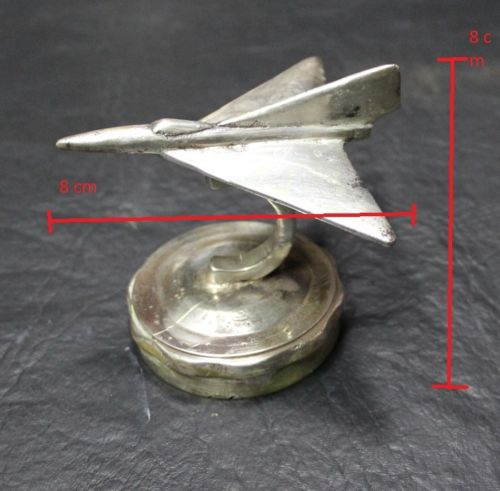Automobilia / Transportation   Nice old silver plated Mirage ? jet car mascot radiator cap 9 cm x 9 cm