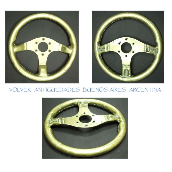 Automobilia / Transportation   Rare vintage brass bronze real size car steering wheel dealership door knob 7,7 kg 13 ´´